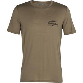 Icebreaker Tech Lite SS Crew Shirt The Good Life Men, Oliva